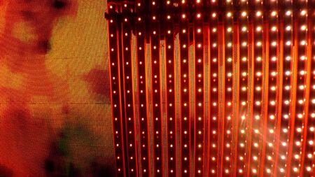 sono: Syst�me de son et de la grille R�sum� laser avec une lueur rouge intense.