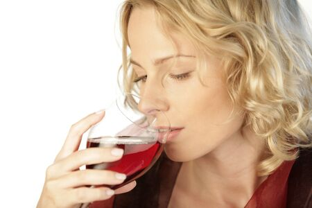 25 30 years old: Woman drinking red wine