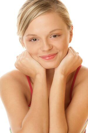 Portrait of young pretty woman photo