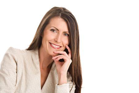 Portrait of mature elegant woman smiling
