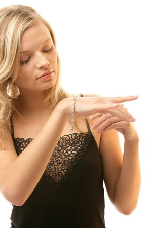 Woman with bracelet Stock Photo - 6611214