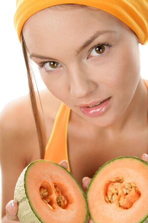 Woman with melons photo