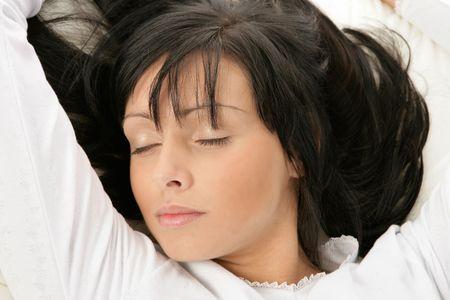 Beauty woman sleeping photo