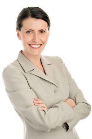 mani incrociate: Ritratto di businesswoman attraente con le braccia incrociate Archivio Fotografico