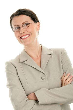 Portrait of attractive businesswoman with arms crossed