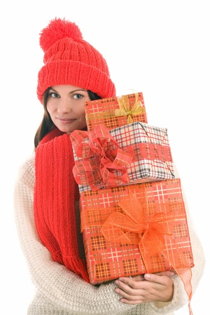 Woman with gifts Stock Photo - 8367235
