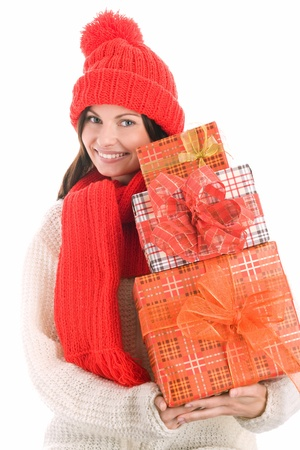 Woman with gifts Stock Photo - 8367309