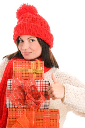 Woman with gifts photo