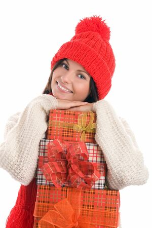 Woman with gifts Stock Photo - 8367237