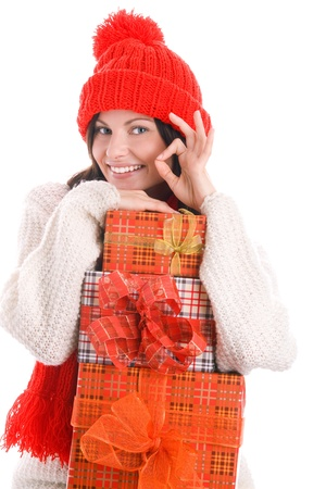 Woman with gifts Stock Photo - 8367311