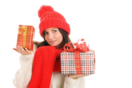 Woman with gifts Stock Photo - 8367249