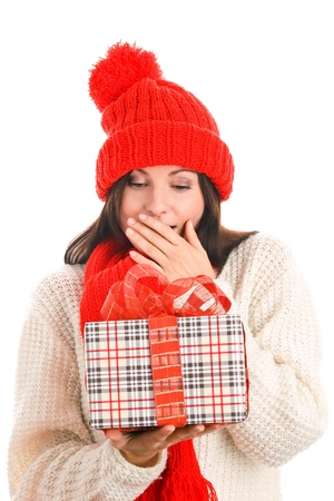 Woman with gift Stock Photo - 8367238