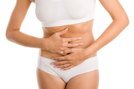 Woman with stomachache photo