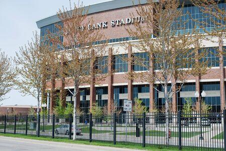 MINNEAPOLIS, MN, USA, MAY 2, 2017: TCF Bank Stadium on the campus of the University of Minnesota