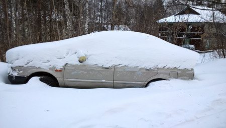 car in a snowdrift