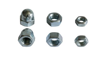a few metal nuts