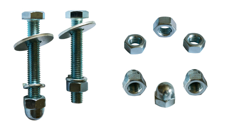 washers bolt and several kinds of nuts 写真素材