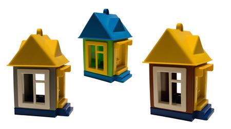 one-storey toy houses Stok Fotoğraf