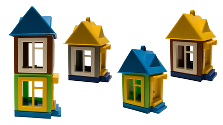 toy houses with roofs and Windows