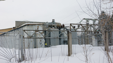 small city electrical substation Imagens