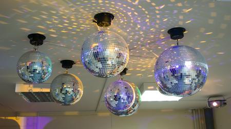 a few disco balls
