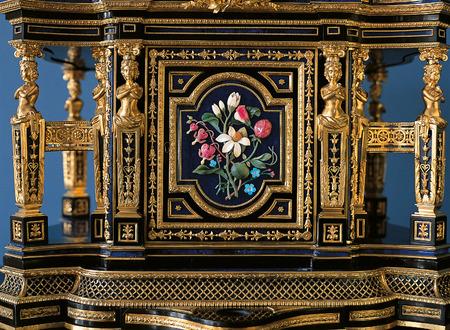 furniture detail: Tsarskoye Selo, Russia - 05 March 2015 : Furniture detail at Tsarskoye Selo Pushkin Palace near Saint Petersburg Editorial