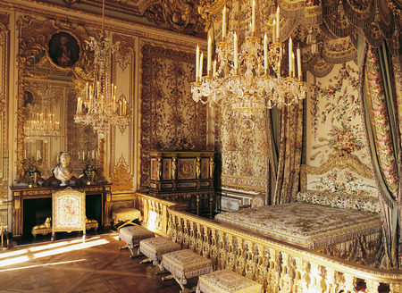 Versailles, France - 10 August 2014 : Marie Antoinette room at Versailles Palace