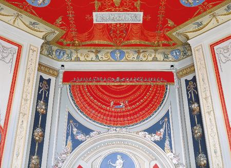 tsarskoye: Tsarskoye Selo, Russia - 05 March 2015 : Painted ceiling at Tsarskoye Selo Pushkin Palace near Saint Petersburg