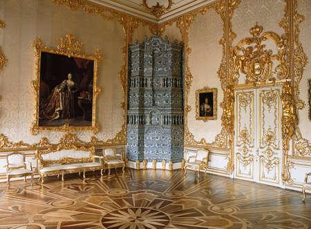 tsarskoye: Tsarskoye Selo, Russia - 05 March 2015 : Room at Tsarskoye Selo Pushkin Palace near Saint Petersburg Editorial
