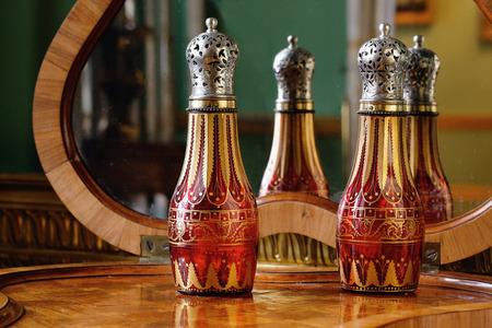 tsarskoye: Tsarskoye Selo, Russia - 05 March 2015 : Perfume bottle at Tsarskoye Selo Pushkin Palace near Saint Petersburg