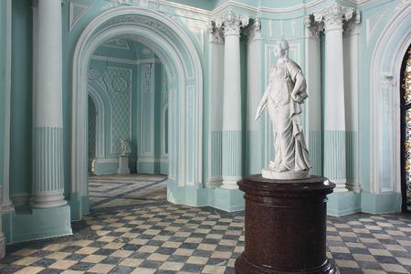 tsarskoye: Tsarskoye Selo, Russia - 05 March 2015 : Turquoise room at Tsarskoye Selo Pushkin Palace near Saint Petersburg