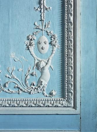 Versailles, France - 10 August 2014 : wall ornaments detail at Versailles Palace ( Chateau de Versailles ).