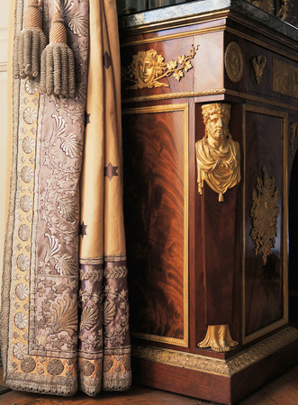 Versailles, France - 10 August 2014 : wood room with furnitures at Versailles Palace ( Chateau de Versailles ).