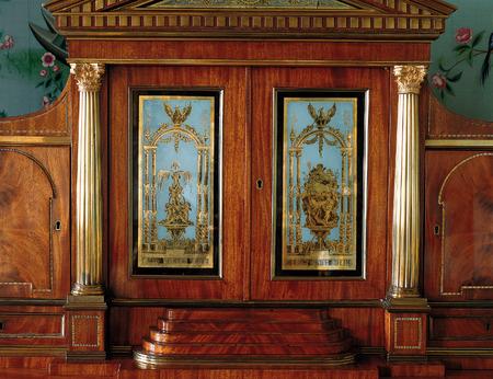 tsarskoye: Tsarskoye Selo, Russia - 05 March 2015: wood furniture at Tsarskoye Selo Pushkin Palace near Saint Petersburg