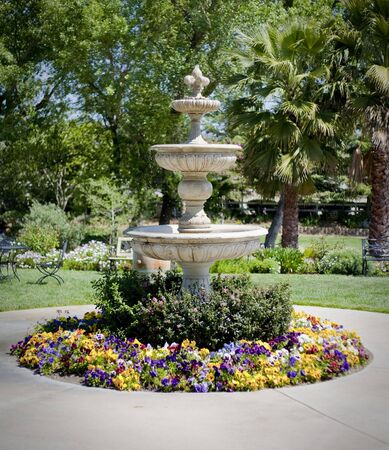 a gorgeous garden fountain Stock fotó