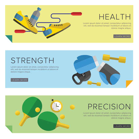 gym: Set of Gym icons. Sport series. Flat Vector Icons.