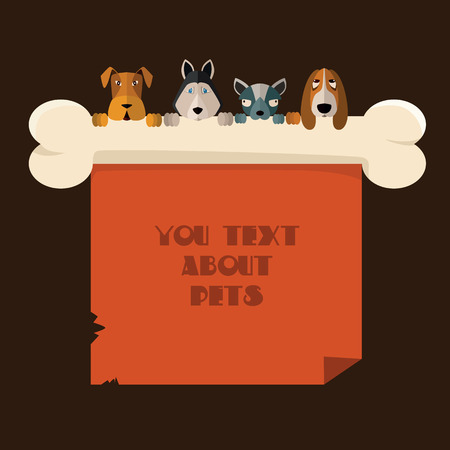 userpic: Vector illustration of dogs that keep the paper. Illustration