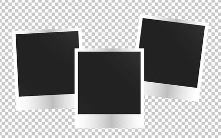 Leeg fotoframe sjabloon. Kleurrijke Vector illustratie Stock Illustratie