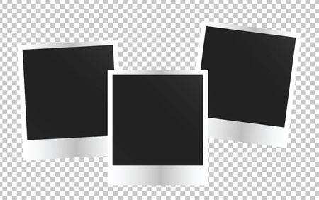 Blank Photo frame template. Colorful Vector illustration Vettoriali