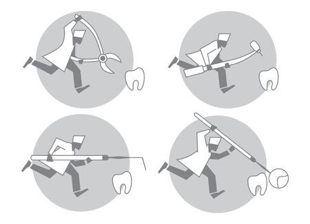 quiet: Allusion to the topic of dentistry. Dentist runs quiet.