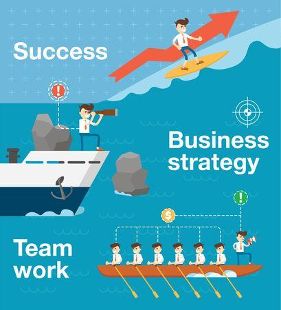 Vector infographoc of team work and team spirit
