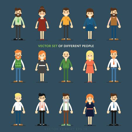 profil: Zestaw różnych wektora osób izolowanych pełne dłogość