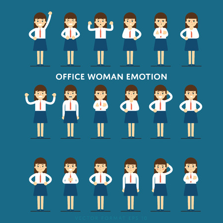 office people: Set of diverse isolated vector office people full lenth Illustration
