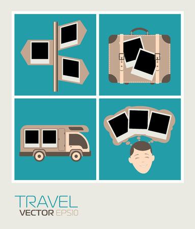 polaroid: Set Polaroid photos to edit your photos. Set to travel.