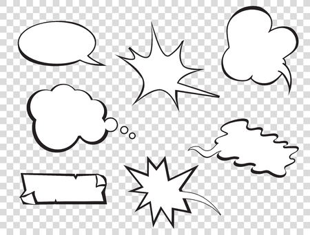 speech icon: Set of pop art comic speeches vector bubble. Pop-art bubble bundle. Illustration