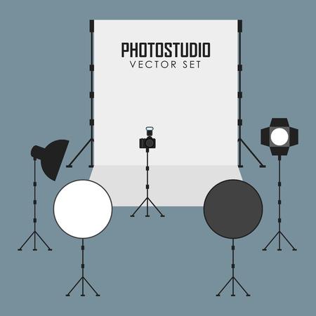 photo studio: photo studio and photo equipment