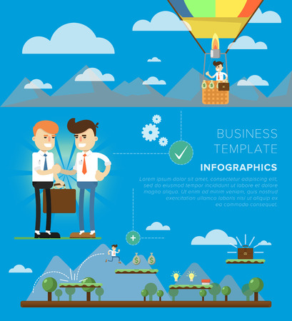 business concepts: Set of Flat design illustration concepts elements for business idea and startup. Concepts can be used for web banner and printed materials.