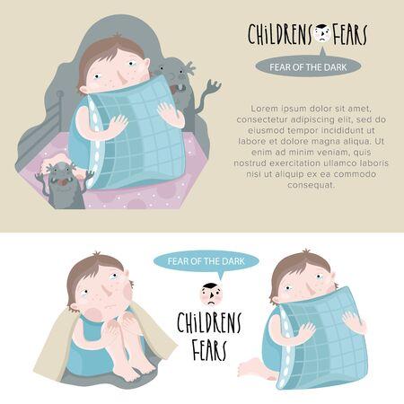 fear: Common childhood fears. Fear of the dark.