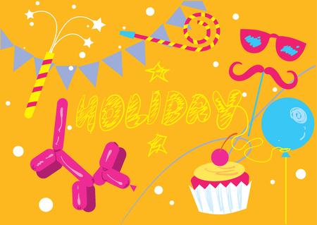 holiday background: Abstract holiday vector background illustration elements. Elements of abstract holiday.