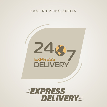 order delivery: Express Delivery Services. Round the clock service, seven days a week. Fast Shipping. Icon Delivery vector. Express Delivery of Goods. Delivery Service, Cargo Delivery. Illustration